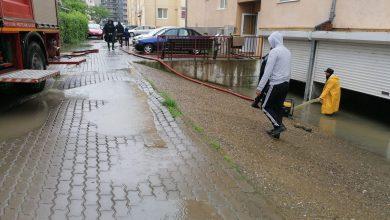 Photo of Ploile au inundat străzile și pivnițele unor case. Intervin pompierii și echipele Apă Canal Sibiu