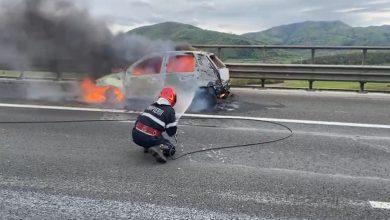 Photo of Incendiu pe A1. O mașină, în flăcări