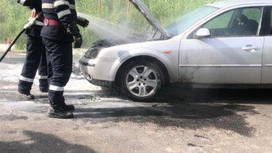 Photo of O mașină a luat foc în mers, la Moșna