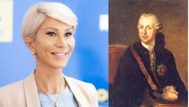 """Photo of Raluca Turcan i-a urat """"La mulți ani"""" baronului Brukenthal, care a murit în 1803"""