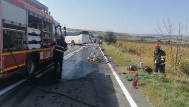 Photo of Autocar cu 20 de pasageri, implicat într-un accident pe DN1, la Miercurea Sibiului